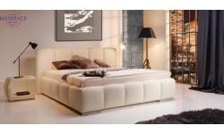 Carrera stylowe łóżko tapicerowane polskiej firmy New Elegance